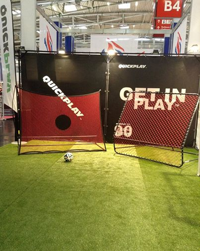 These are two of our new products; SPOT Elite (left) and PRO Rebounder (right)